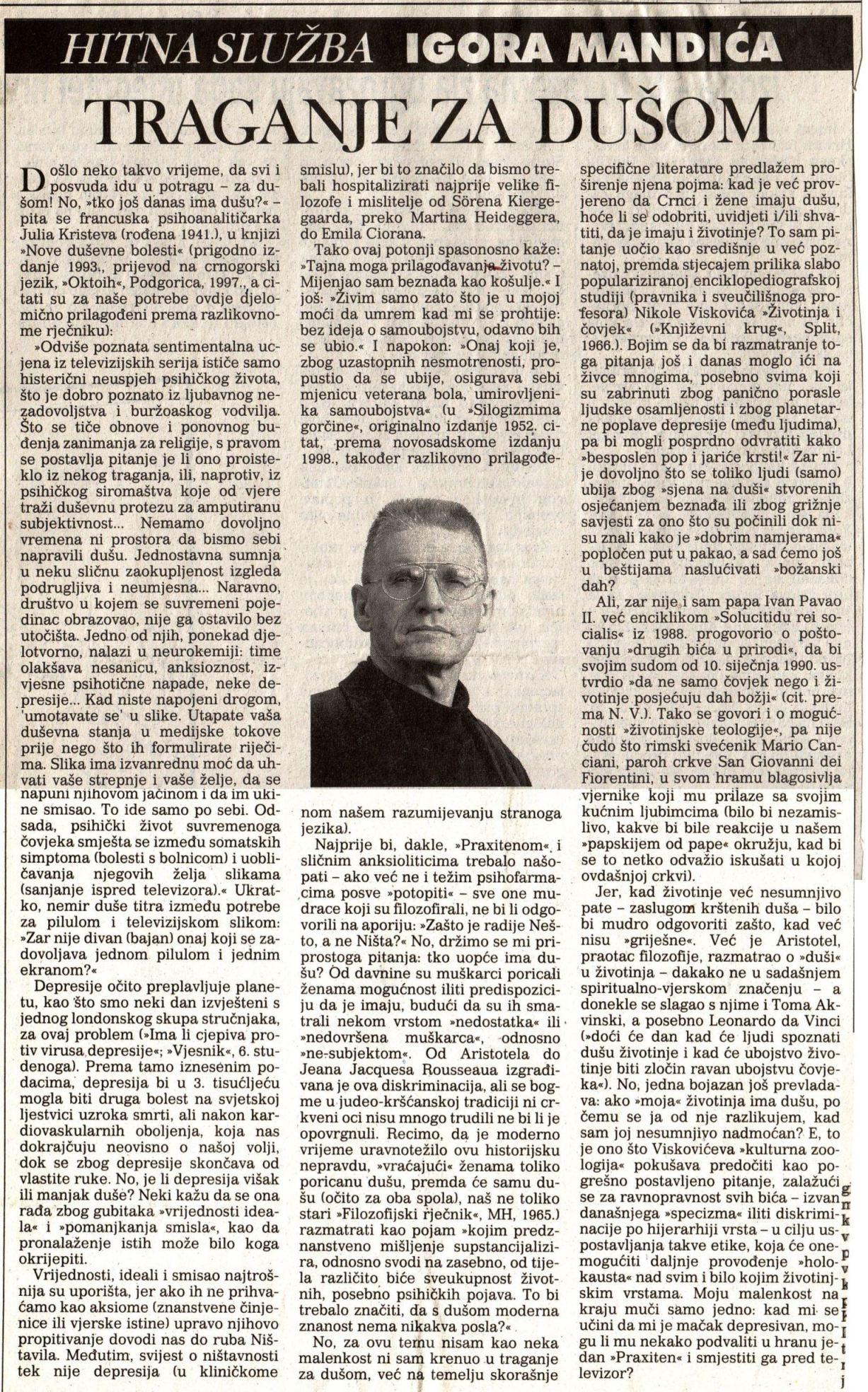VJESNIK, 11. 11.1999.