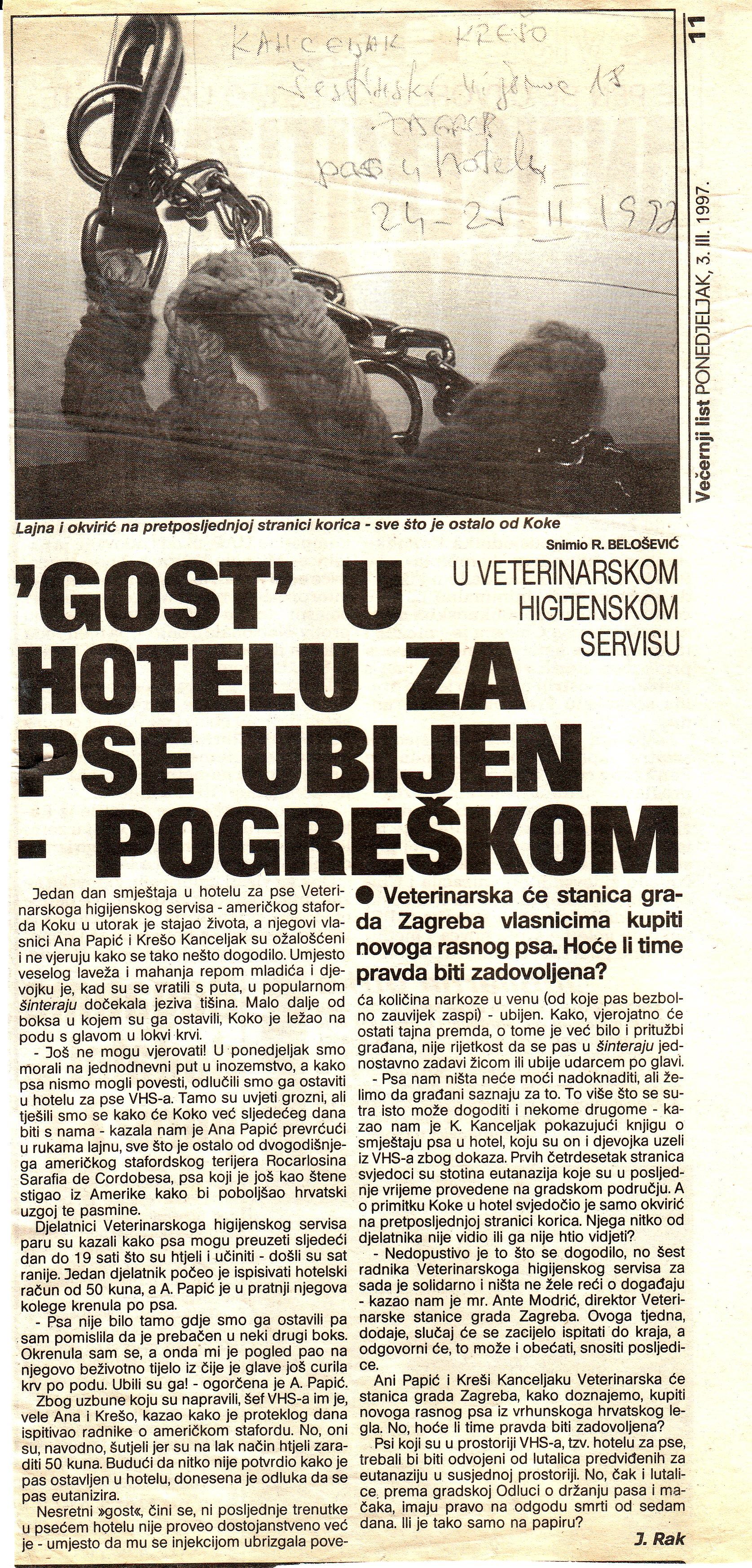 Gost u hotelu za pse ubijen pogreškom