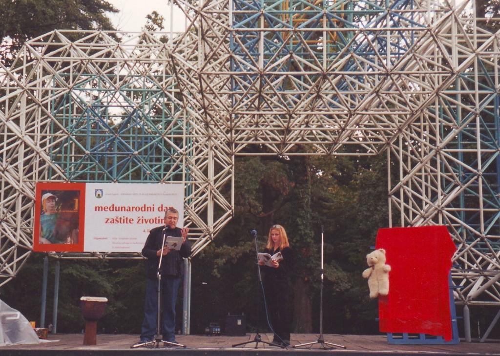 MEĐUNARODNI DAN ZAŠTITE ŽIVOTINJA, Maksimir, 2003. čitanje pjesama Ane Horvat iz ZAHVALNICE ŽIVOTINJAMA