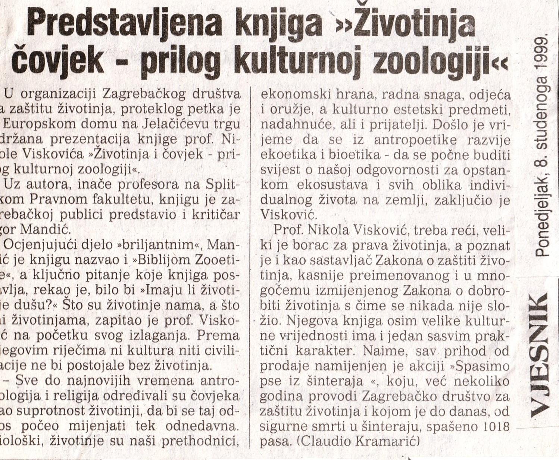 VJESNIK, 8. 11. 1999.