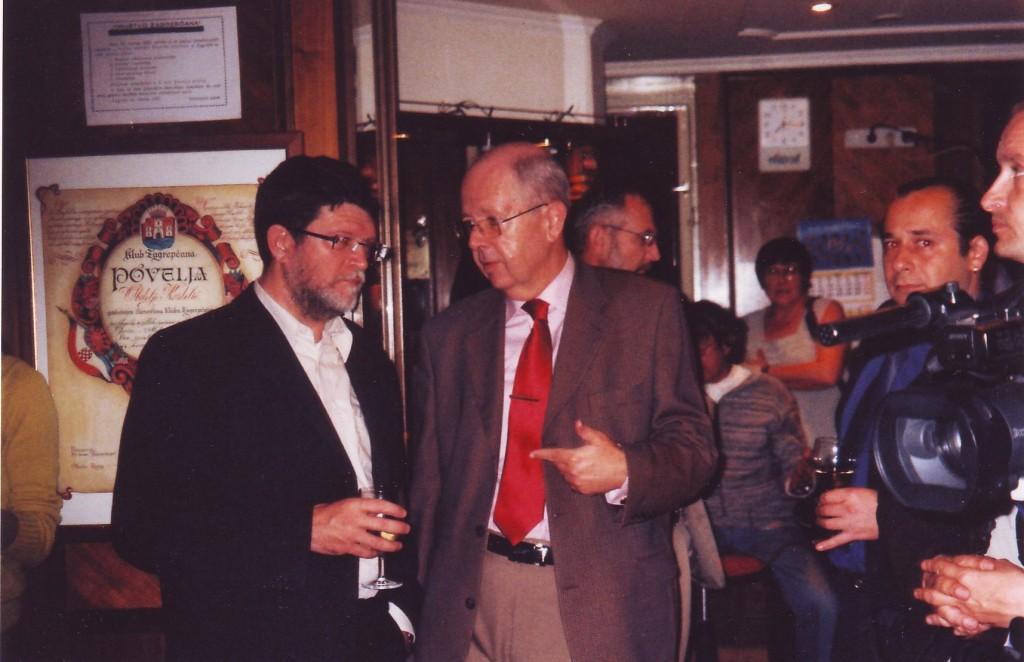 Tonino Picula i Tomisla Jakić na predstavljanju DANOVE SLIKOVNICE, 2008